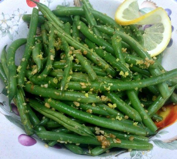 Lemon Garlic Green Beans recipe -- Juggling With Julia