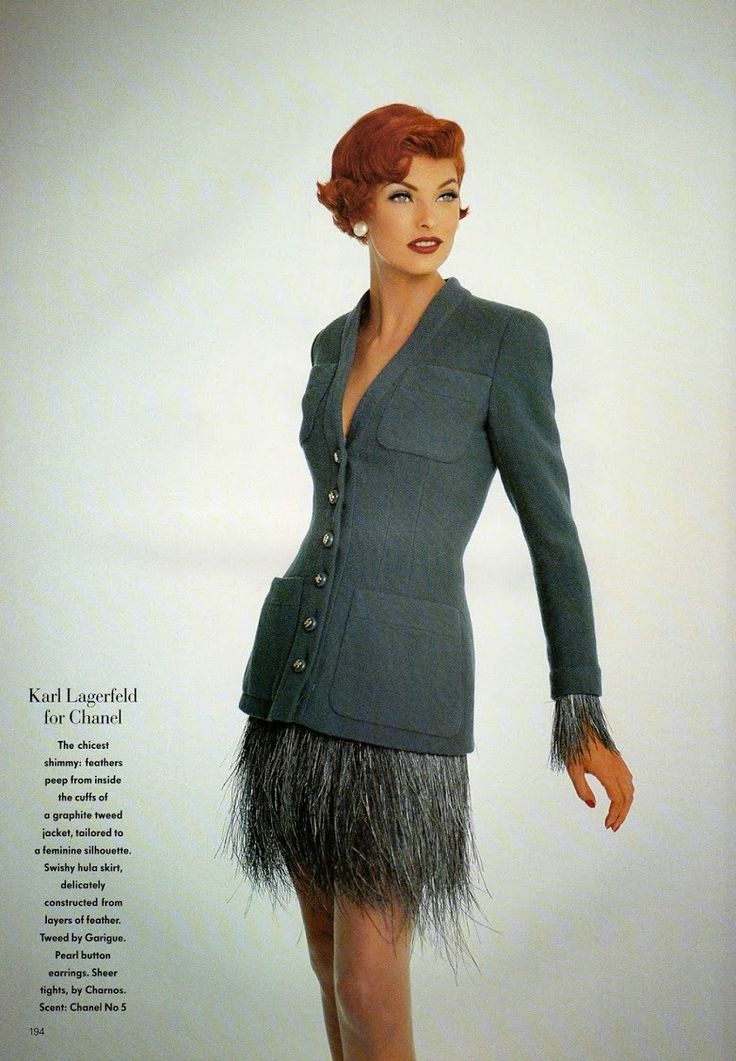 1991 haute couture fall linda evangelista by patrick for Haute couture fashion house