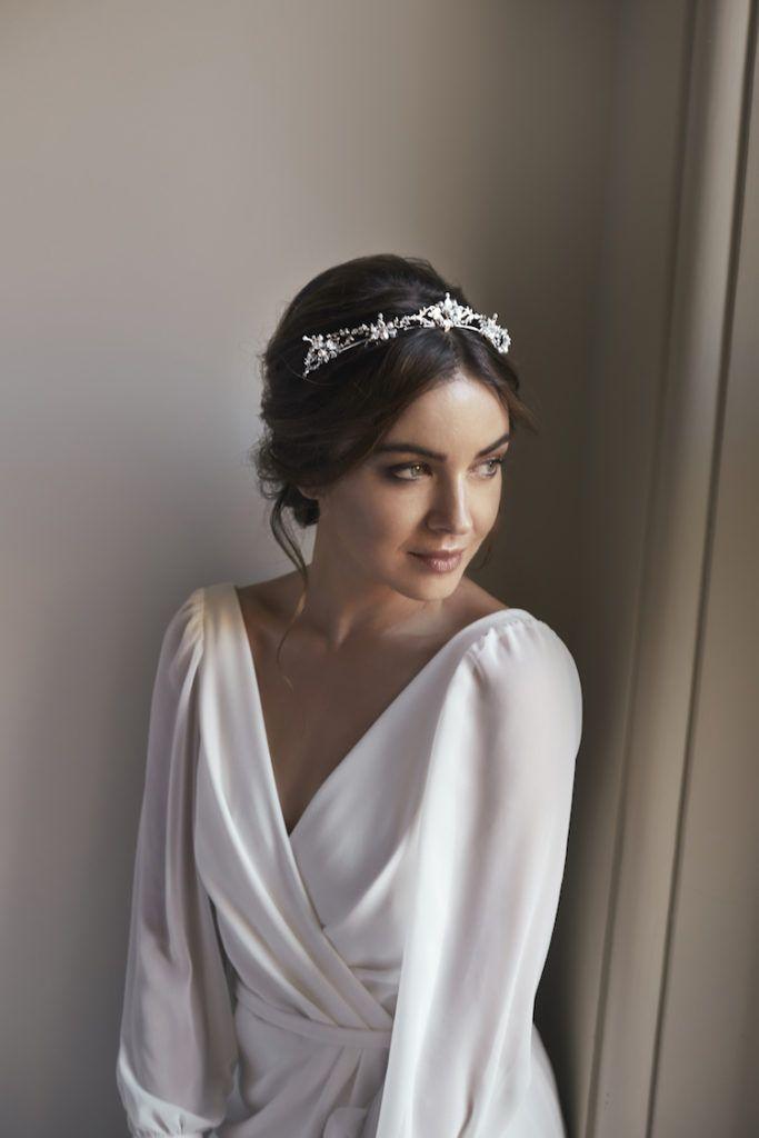 FLEUR | delicate silver bridal crown