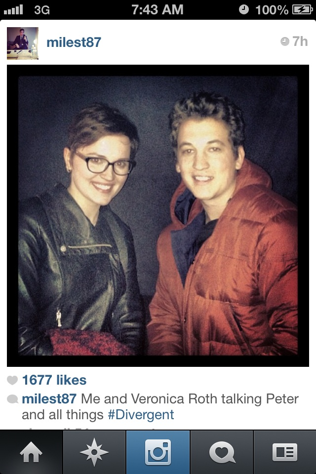 Miles Teller and Veronica Roth!