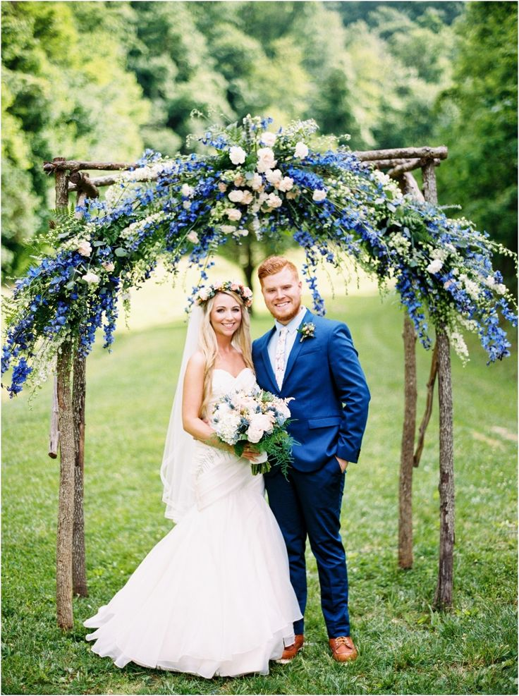 The 56 best ceremony flowers lisa foster floral design images on this ceremony arch with blue flowers by lisa foster floral is stunning spring wedding at the barn at chestnut springs in sevierville tennessee junglespirit Images
