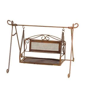 Attractive Add Beautiful Decorative Accents Like The Fairy Garden Copper Mesh Swing To  Enhance The Beauty Of Your Miniature Garden Setting. This Ornate Miniature  Swing ...