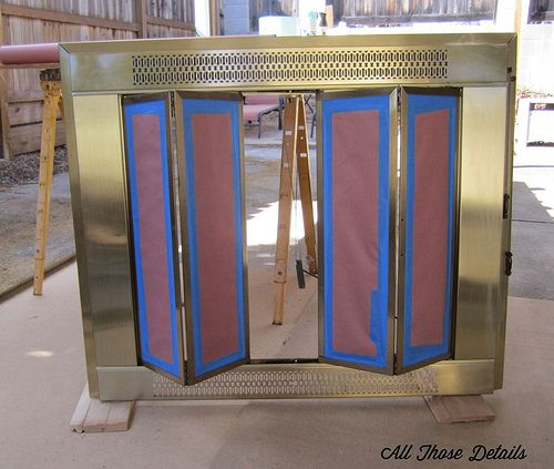 Repainting Brass Fireplace Doors