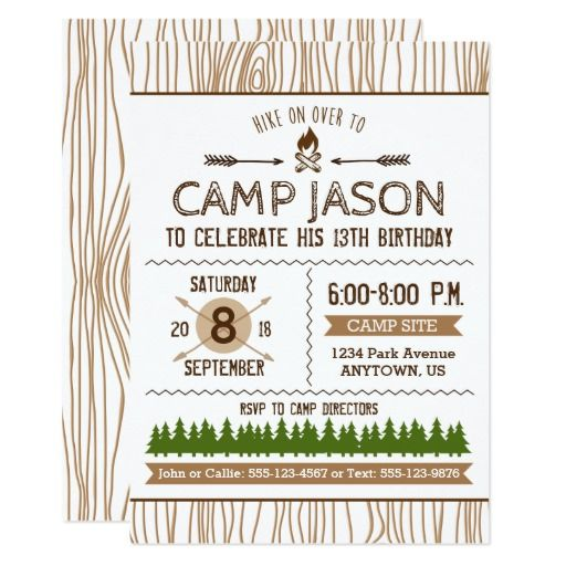 251 best camp out invitations images on pinterest birthday camping birthday invitation stopboris Image collections