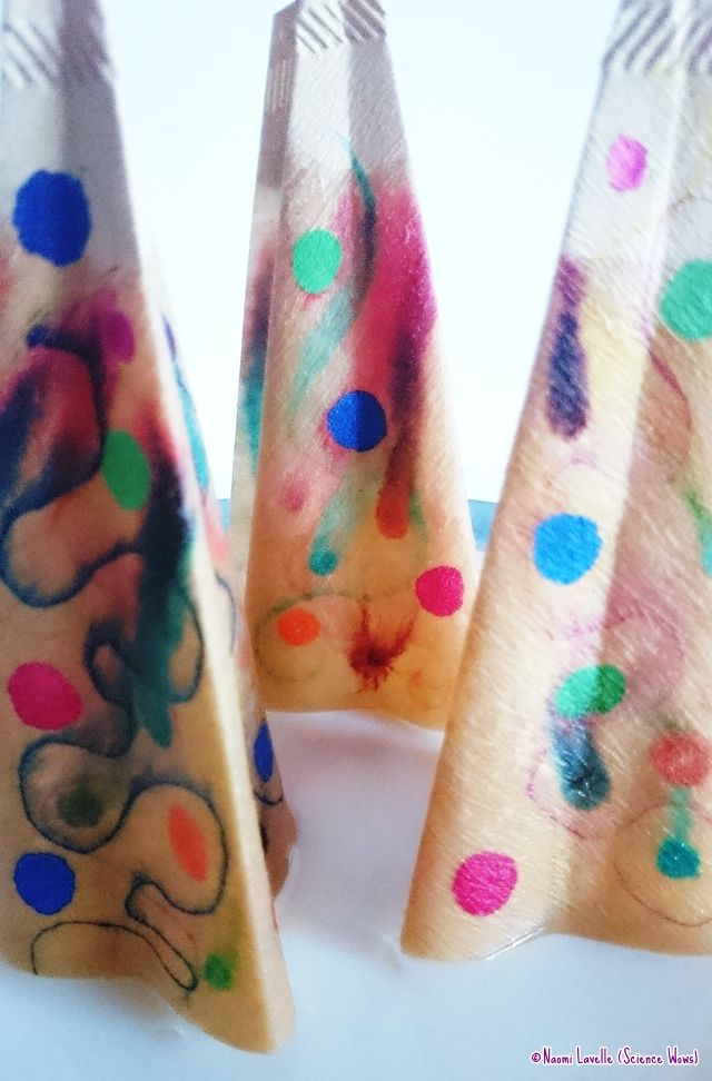 Craft Advent: Day 4: Chromatography Christmas Trees |Where Wishes Come From