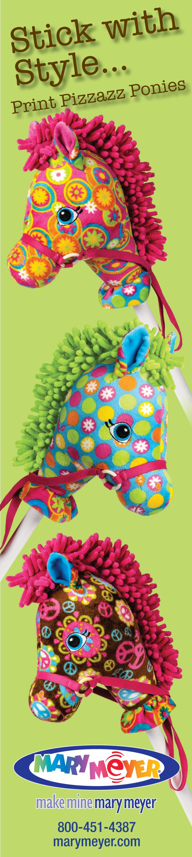 Our always popular stick horses! | Mary Meyer                                                                                                                                                                                 More