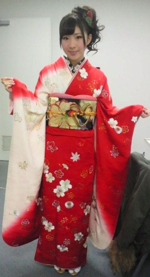 Iwasa Misaki of AKB48 in kimono.