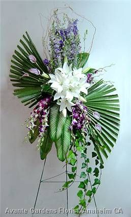 contemporary fall floral arrangements | ... Floral Design Gallery - Anaheim, CA : Contemporary Funeral Spray in