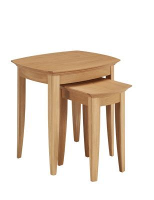 Burchill Nest of 2 Tables in Oak from M&S