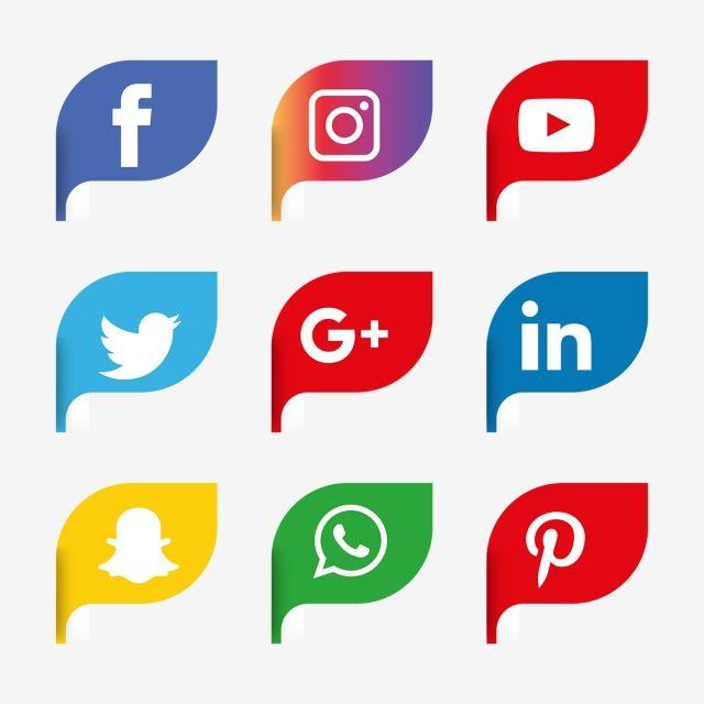 Social Media Icons Set Logo Vector Illustrator Social Media Icon Png And Vector With Transparent Background For Free Download Icones Redes Sociais Icones De Midia Social Aplicativos