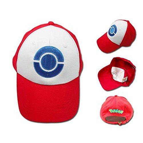 Miss Swordsman Pokemon Ash Ketchum Baseball Snapback Cap Trainer Hat Pikachu Cosplay for Adult Embroidered (White)