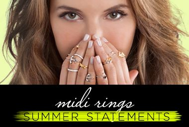 This summer, rings are rising above – literally! Worn just above the knuckle, midi rings are a sweet and easy way to accessorize without adding too much bulk. Shop now and see why can't get enough of these chic, soft-stated gems!
