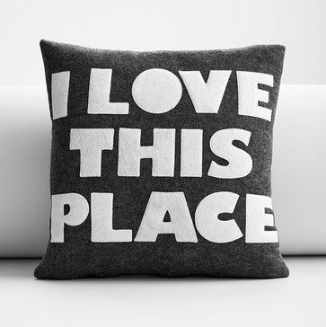 Eco Pillow, Love this Place from RedEnvelope: Welcome home! #Pillow