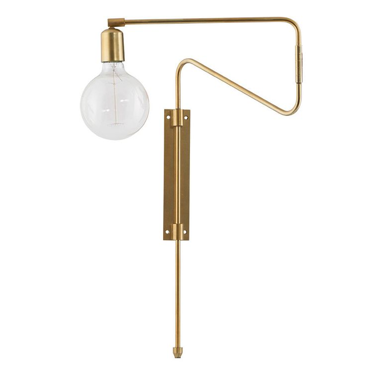 House Doctor Swing Vegglampe Messing 35 cm - Vegglamper - Innebelysning | Designbelysning.no