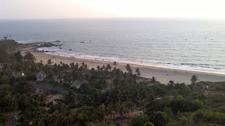 View of Vagator beach from Chapora fort