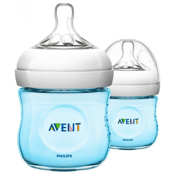 Set Avent de 2 Biberones Natural Azul de 125 ml; anticólicos reducen el malestar ya que el bebé controla el flujo de leche; con menos piezas para un montaje rápido y sencillo.<br>Libre de BPA.