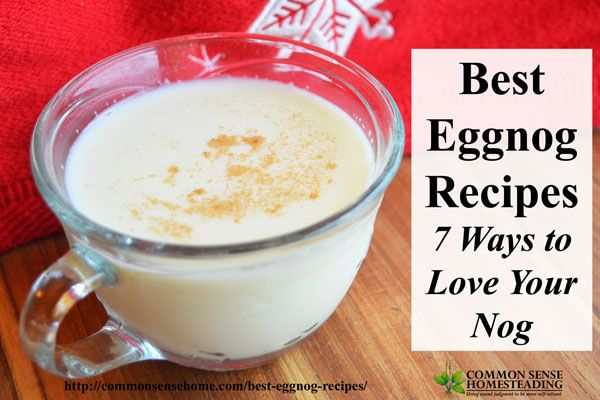 Best Eggnog Recipes - Create a family tradition and skip the preservatives with these easy homemade eggnog recipes.Traditional eggnogs, eggless & dairy-free