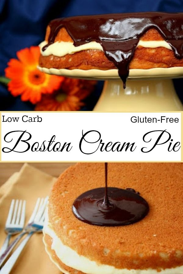 Low Carb Gluten-Free Boston Cream Pie | All Day I Dream About Food