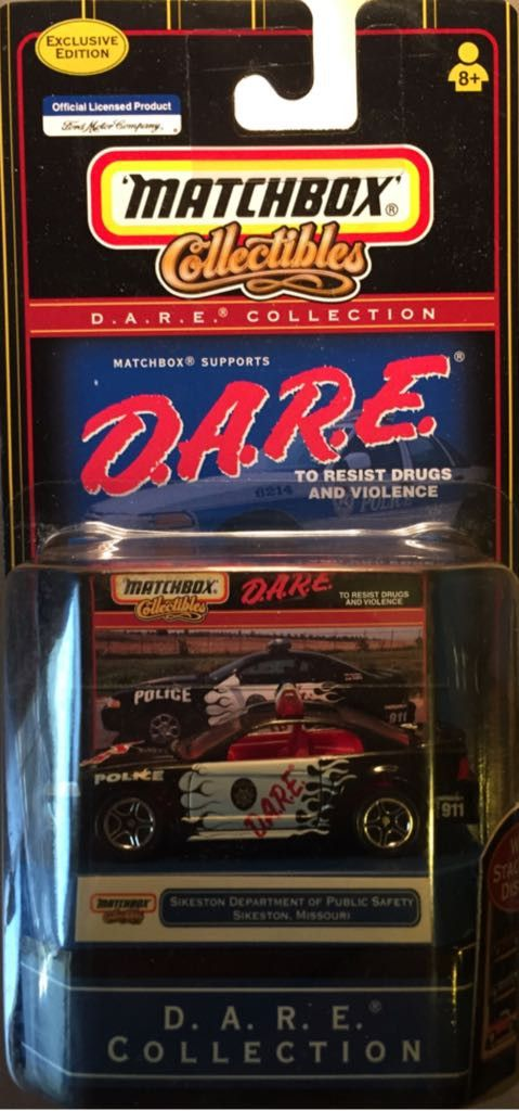 Matchbox D.A.R.E. Collection Exclusive Sikeston Missouri Department Of Public Safety Ford Mustang Die Cast Car