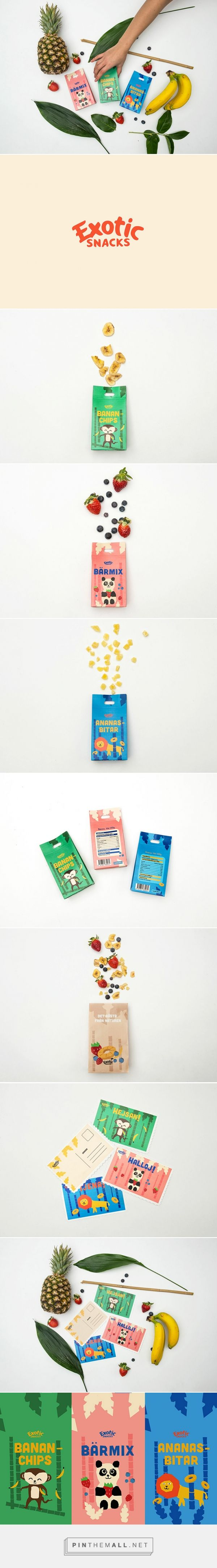 Exotic Snacks by William Sörqvist, Sweden curated by Packaging Diva PD. The cutest exotic snack packaging : )