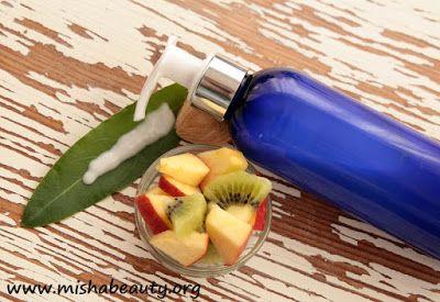 MishaBeauty - DIY kosmetika: Ovocné tělové mléko