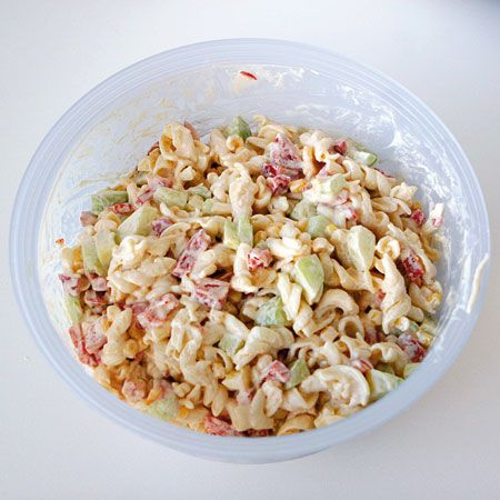 Sajtos tésztasaláta almával Recept képpel - Mindmegette.hu - Receptek