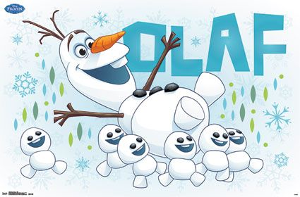 Olaf being carried off by Snowgies from Frozen Fever.