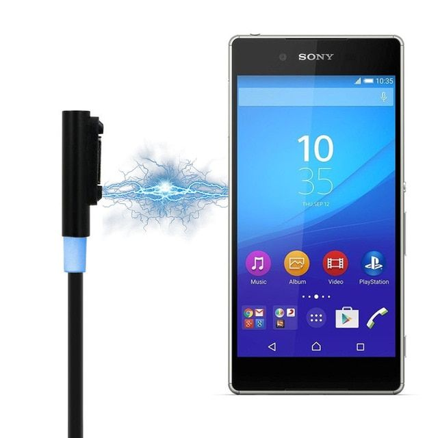 Magnetic Charger Usb Cable For Sony Xperia Z3 L55t Z2 Z1 Compact Xl39h Usb Cables Desktop Magnet Charging Cable Review Sony Xperia Z3 Data Cables Usb