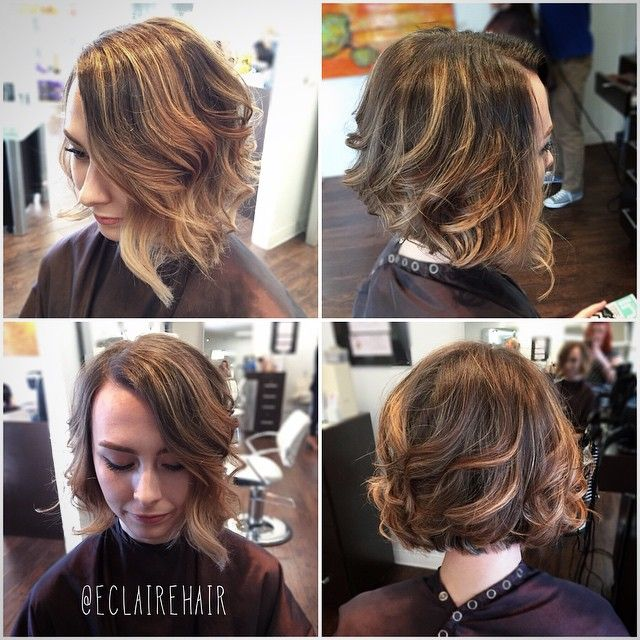 Love this short hair ombré from today! #lovewhatido #ombre #blonde #ombreallday @therootsalon @echelgs #emilyclairehair #messybob #texture #therootsalon #salon #phoenix #local #wella
