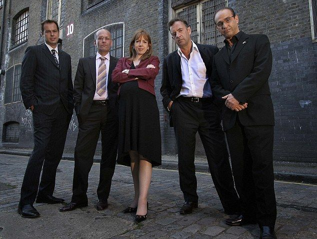 The original Dragons: Theo has been part of the programme since 2005, seen here with (left to right) Peter Jones, Doug Richard, Rachel Elnaugh and Duncan Bannatyne
