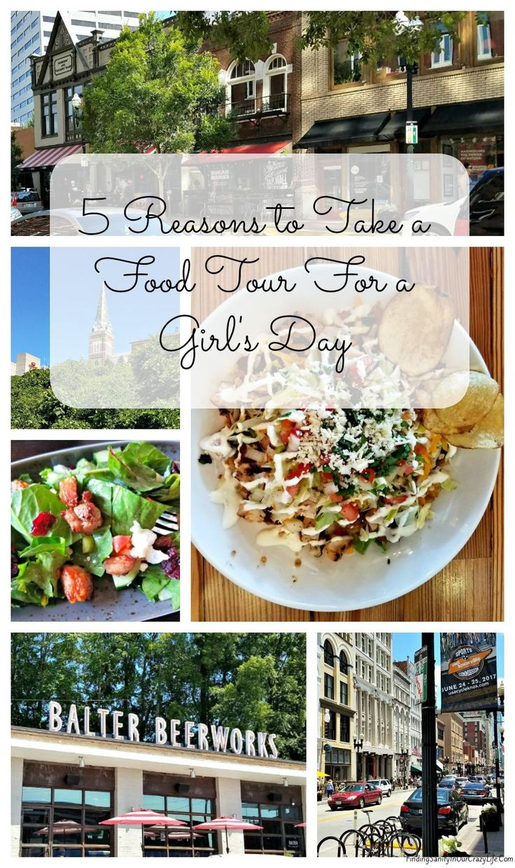 Discover the 5 Reasons you need to Take a Food Tour For a Girl's Day.in Knoxville with East Tennessee Food Tours. #VisitKnoville #KnoxEats