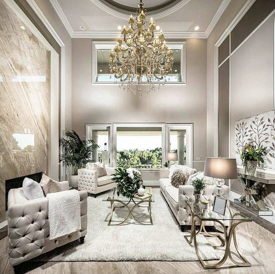 Living Room Makeover Reveal By Decor Gold Designs: A Luxe Space In The Shades Of Grey, Cream And Gold For A