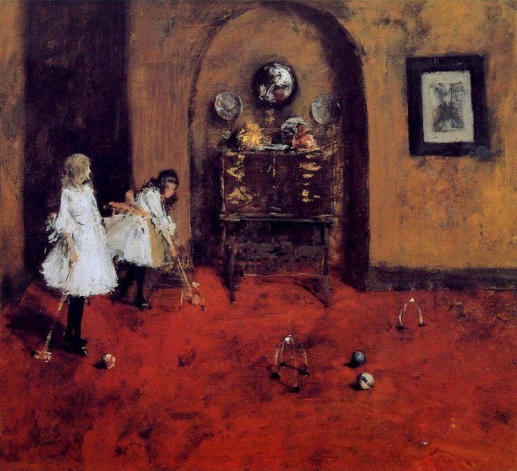 Уильям Чейз «Дети играют в крокет»