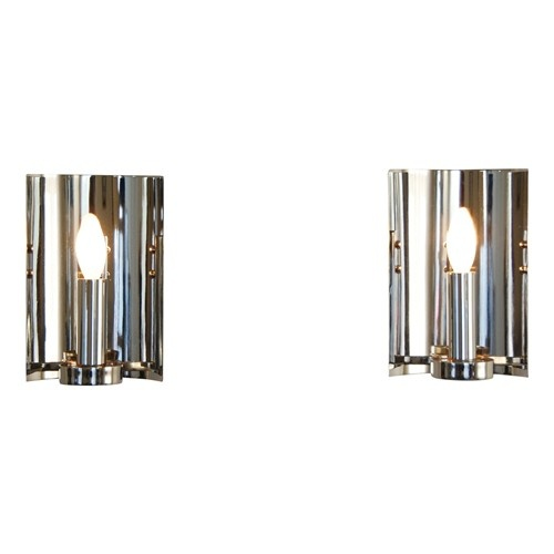 Pair of nickel candelabra sconces - $600.: Nickel Candelabra, Faux Shopping, Candelabra Sconces, Abbey Tavern, Nickel Sconces, V M Lighting
