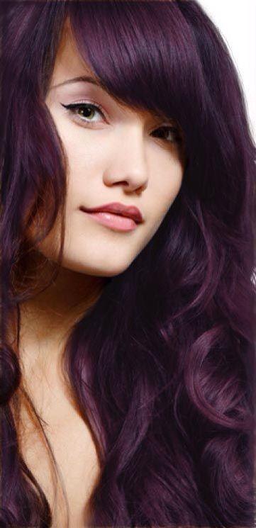 Aubergine Purple Hair
