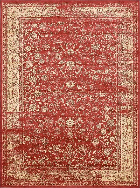 Red Victorian Area Rug