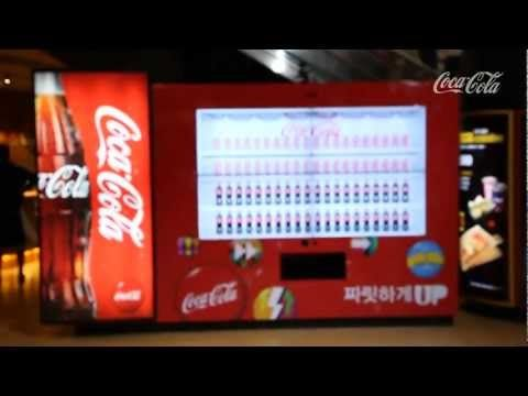 Coca-Cola unveiled a special vending machine in the lobby of a South Korean movie cinema. The vending machine featured an interactive screen equipped with motion sensors, and patrons of the cinema could obtain a free soda by successfully completing a series of dance moves. Participants could also share a video of their experience with friends on various social networks.