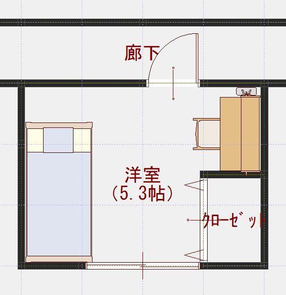 子供部屋はドアの位置を変えれば広く使えます 住宅情報 住まいいね 5畳 レイアウト 子供部屋 子供部屋 レイアウト