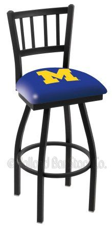 "Amazon.com: Michigan Wolverines L018BW 30"" Bar Stool: Sports & Outdoors"