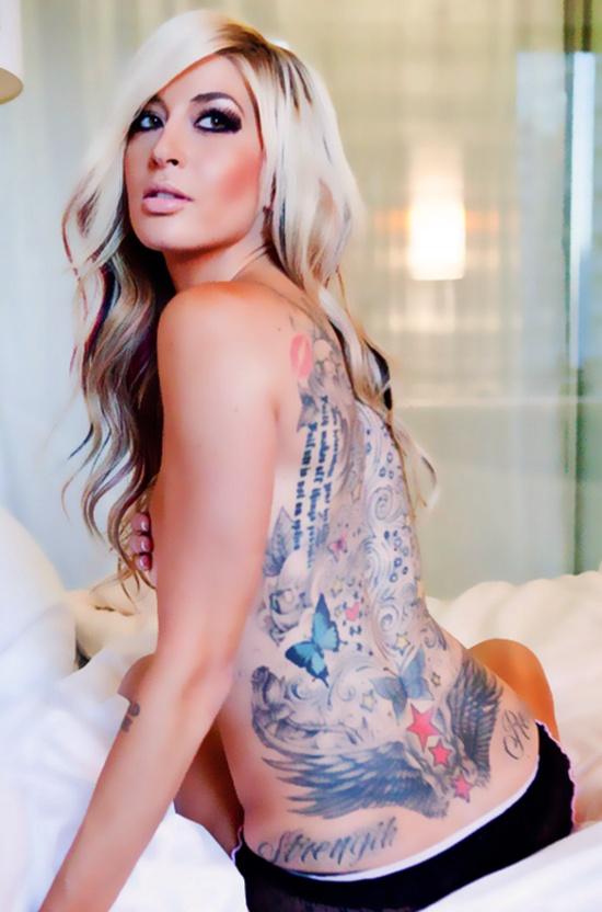 Porn star spider web tattoo on tits-3537