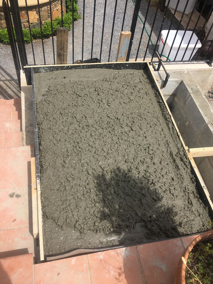 We then boxed up the outer edges and poured the concrete top