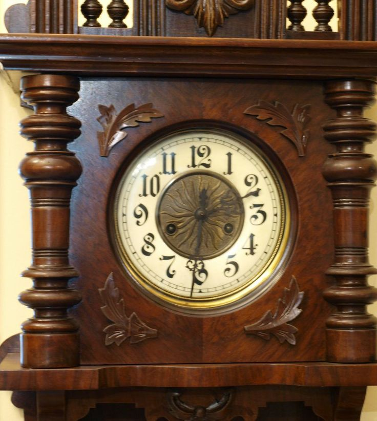 Zegar ślązak Gustav Becker Old Clocks Pinterest