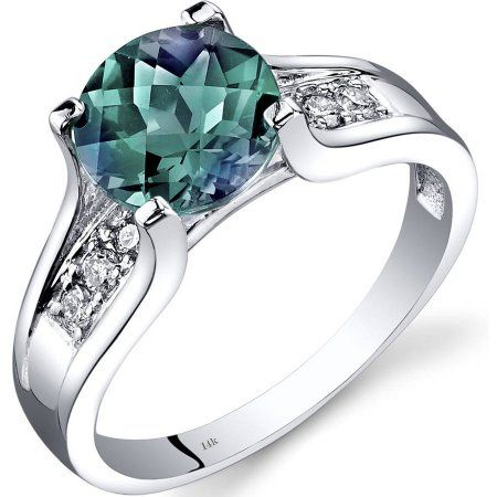 Lex /& Lu Sterling Silver w//Rhodium Emerald-cut Smokey Quartz /& Diamond Pendant