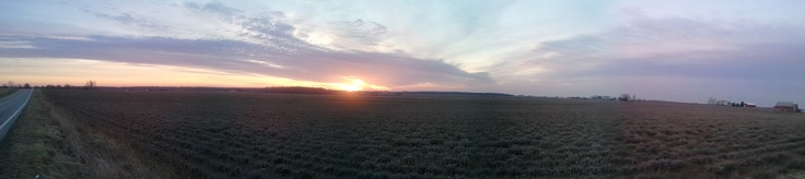 Panoramic picture of a beautiful sunset! :) ... Uploaded with Pinterest Android app. Get it here: http://bit.ly/w38r4m