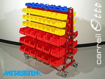 Metalsistem Shopfitting & Retail - VIPA contenitori a bocca di lupo linea Bull