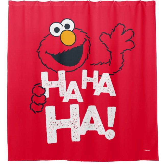 Sesame Street Elmo Ha Ha Ha Shower Curtain Zazzle Com