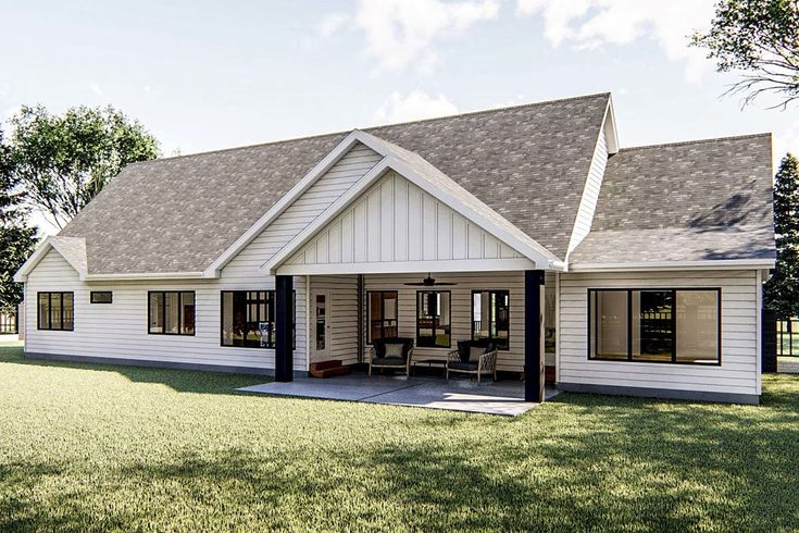 Plan 62769DJ: Modern Farmhouse Ranch Home Plan with ...