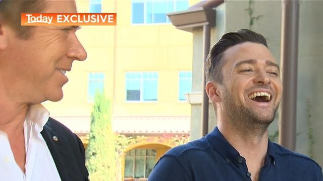 Justin Timberlake takes a liking to TODAY's Richard Wilkins: 'I need you to do all my PR'.