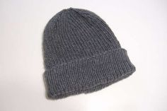 My Favorite Ribbed Hat for Straight Needles - Clothing Knitted My Patterns - - Mama's Stitchery Projects