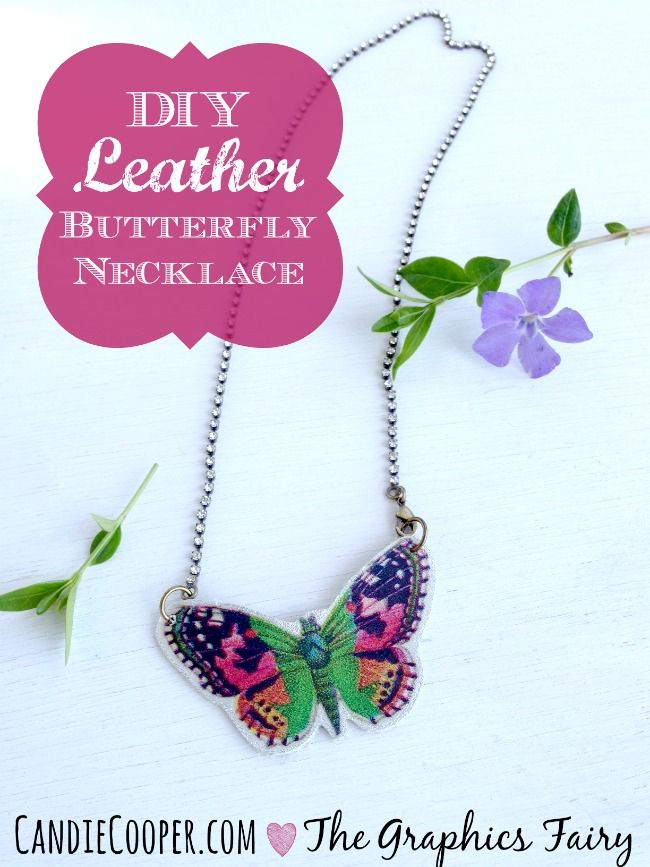 Diy Leather Butterfly Necklace Tutorial Jewelry